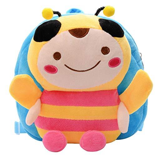 MLOPPTE 3D Plüsch Kinderrucksäcke Kindergarten Schultaschen Kleintier Biene Kinder Kinderrucksack Cartoon Mini Taschen für Mädchen Junge Niedliche Büchertasche 03