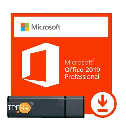 MS Office 2019 Professional Plus 32 bit & 64 bit - Licenza Originale con una Chiavetta USB di TPFNet®