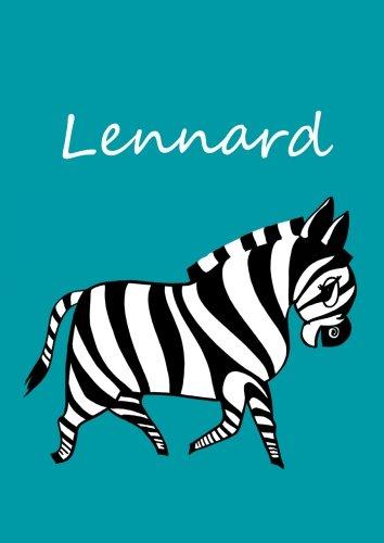 Malbuch / Tagebuch / Notizbuch - Lennard: DIN A4 - blanko - Zebra