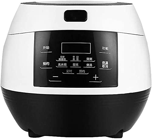 Pans for cooking Digital Programmable Rice Cooker Mini Multi Food Steamer 3L Low Removal Sugar Grain Machine Smart Stew Double Stainless Steel 24 Hours Preset Instant Keep Warm