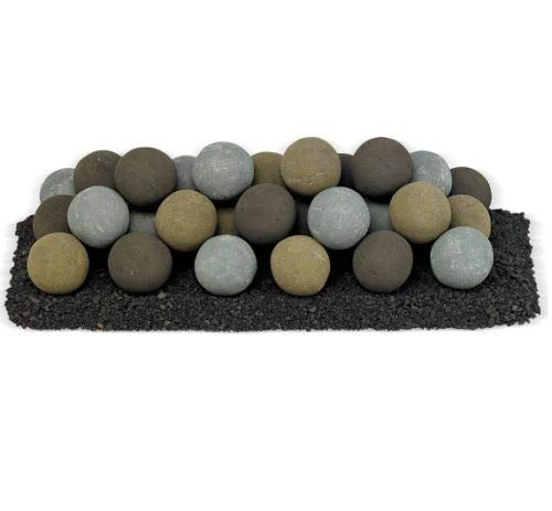 Learn More About American Fireglass 30 x 10 Natural Lite Stone Ball Set - 4 Uniform