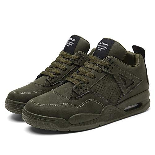 Aerlan Men's Running Shoes,Zapatos de Gimnasia Zapatos Ligeros,Zapatos Casuales Bajos para Caminar, Calzado Deportivo para Exteriores, Zapatos para Hombre-Green_41#