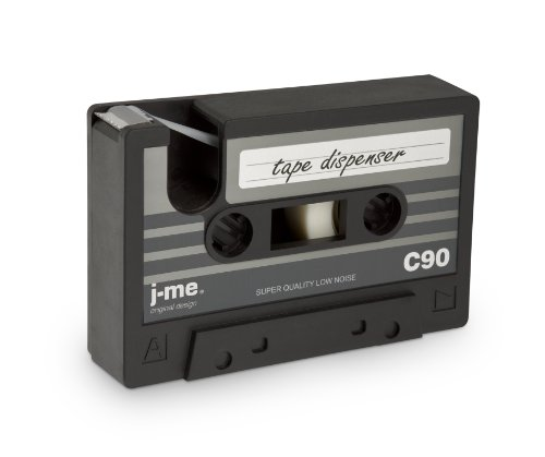 j-me Cassette Tape Dispenser - Black. an Ideal Stationery Accessory for The Home or Office Desk | Compatible with Scotch Tape & 3M Tape