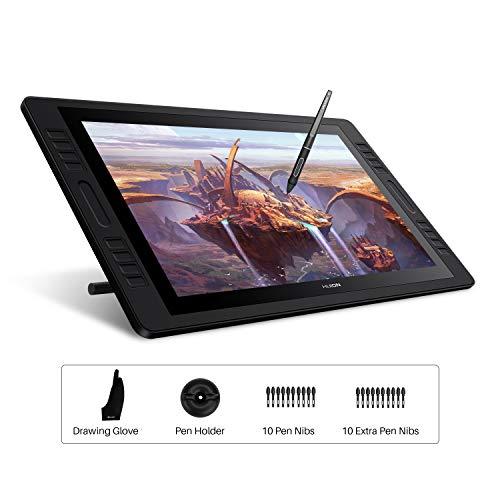 HUION Kamvas Pro 20 2019 Gráficos Monitor de Dibujo Tableta 19.5 Pulgadas AG Glass HD Full Laminated Pantalla, 8192 Niveles Pluma sin Batería, 16 Teclas de Acceso Directo y 2 Barras Táctiles