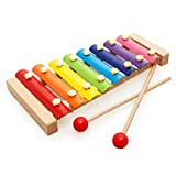 Trinkets & More - Kids Xylophone Wooden (8 Nodes) | First Musical Sound Instrument Toy | Babies Toddlers 6 Months + (Pack of 1)