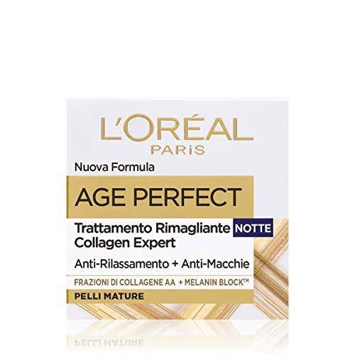 L Oréal Paris Age Perfect Crema Viso Antirughe Idratante Notte, Pelli Mature, Anti-Macchie, 50 ml