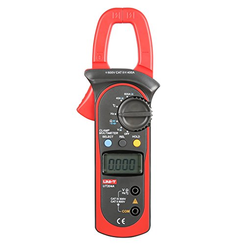 Misuratore digitale a pinza multimetro AC DC Voltmetro Ohm Volt Diodo Temperatura Muliti Meter Tester con Display LCD (UT204A)