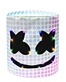 Halloween Kids Decoration Game Fans Cosplay LED Glowing Nightclub DJ Mask Novelty Music Festival Props Costume Masks (Multicolored, One Size)