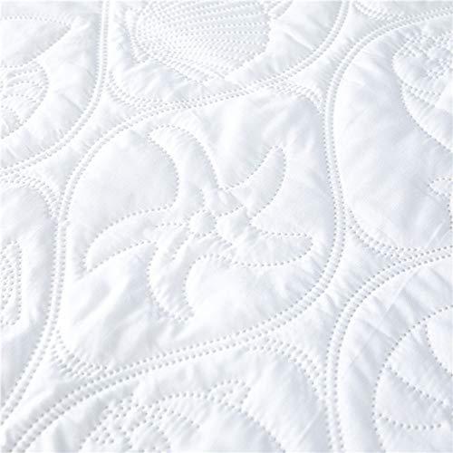 FANFAN Protector de colchón Impermeable Acolchado en Relieve de Color sólido, Cubierta de Estilo de sábana Ajustable para colchón, Almohadilla Suave y Gruesa para Cama