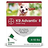 K9 advantix II Flea and Tick Prevention for Small Dogs, 4-10 Pounds, green (86145855)