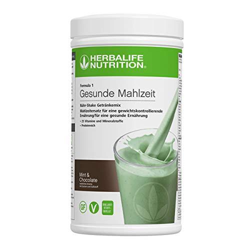 HERBALIFE NUTRITION Batido de Proteina Fórmula 1 Alimento Equilibrado Sabor a Menta y Chocolate - 550g