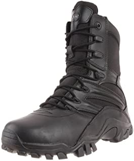 Bates Boots Boots Boots Boots Boots Men's 20.32 سم Zip Side Fight Boots 2348-9.5M