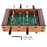 Jopwkuin Mini Juego de fútbol de Mesa Compacto, Fabricado en Madera y ABS, Fácil instalación, Vale la pena, Juego de fútbol de Mesa para Sala de Juegos y Noche de Juegos Familiares