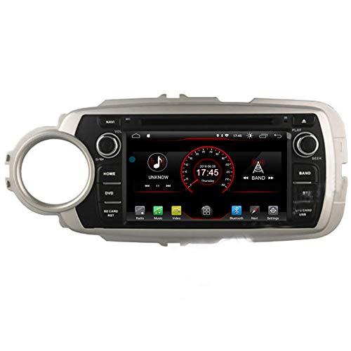 Autosion - Reproductor de DVD para coche Android 10, radio navegador, GPS, estéreo, para Toyota Yaris 2012 2013 2014 2015, Bluetooth, SD, USB, radio OBD, WIFI DAB
