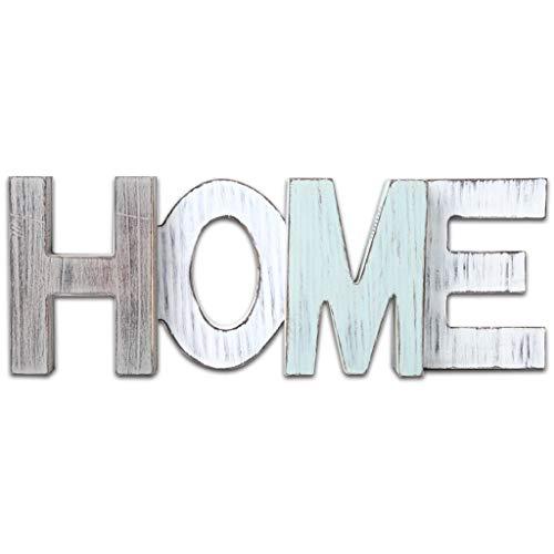 Weehey Artesanías Creativas Estilo rústico de Madera Antigüedades Decoración del hogar Inicio Decoración de Letras