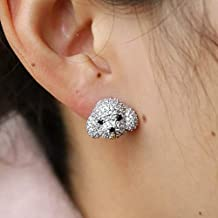 Toys shaped cute 925 silver Swarovski elements fashion summer stud earrings for girls women babies baby fits all dress