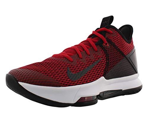 Nike Herren Lebron Witness IV Basketballschuh, Nero Black Gym Red Univ Red 002, 42 EU