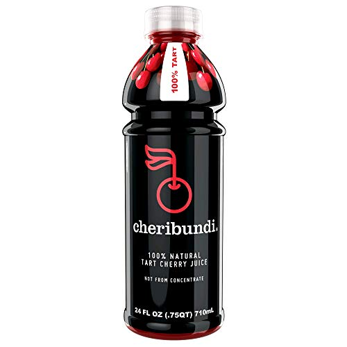 Cheribundi 100% Tart Cherry Juice – 60 Tart Cherries and 100 Calories per 8 oz. Serving, One Ingredient, All of the Benefits, Reduce Soreness, Recover Faster, Boost Immunity and Improve Sleep, 8 Pack