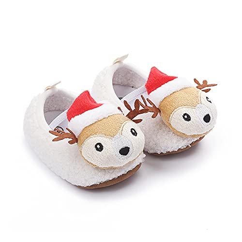 FURONGWANG6777BB Baby Girls Boys Christmas Dibujos Animados Cordero Primero Caminante Zapatos Recién Nacidos Prewalker Zapatos Suaves 0-18m (Baby Age : 12-18 Months, Color : Blue)