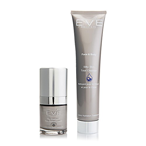 EVE REBIRTH Kit : Soin Anti-Rides Yeux Bio-Intelligent, 15 ml + Nettoyant Visage/Corps, 200 ml