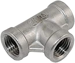 Stainless Steel 3 Way T Shaped Equal Tee Coupling 1/8