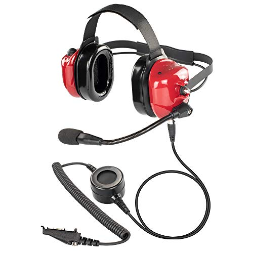 Check Out This Bommeow BHDH40PTT-RD-K3 Dual Muff Earpads Noise Reduction Headset PTT for Kenwood NEX...