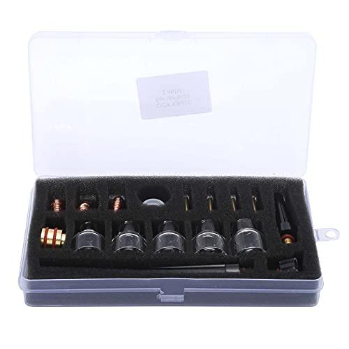 Kit de accesorios de antorcha de soldadura TIG, consumibles de soldadura de copa de vidrio para accesorios de soldadura de copa de boquilla de electrodo de herramienta eléctrica WP9 / 20