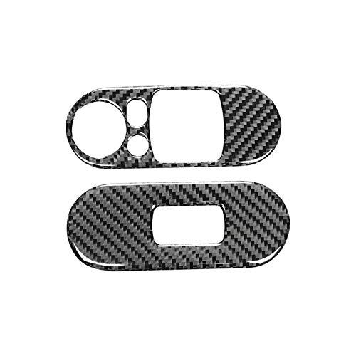 SHOUNAO Cubiertas De Control De La Ventana De La Puerta Interruptor De Elevador De Fibra De Carbono Interior Pasada De Pasamanos Pegatina Pegatina Caja Ajuste para Mini Cooper F55 F56