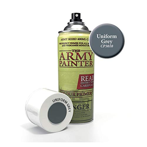 The Army Painter – Colour Primer - Uniform Grey   400ml   Acryl-Spray   Grundierung   für Modellmalerei