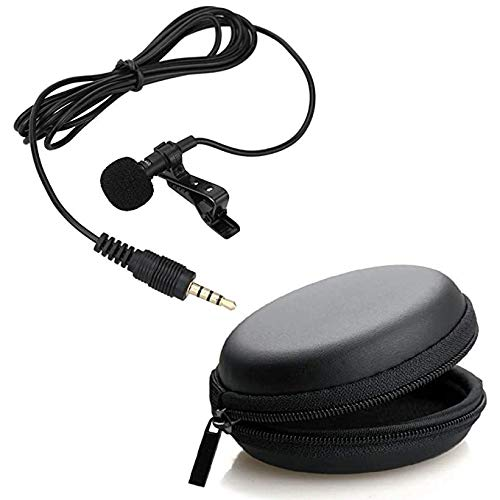 BLAXSTOC Noise Cancellation Clip Collar Mic Lavalier Condenser for YouTube Video | Interviews | Lectures Travel Videos Mike for Mobile (with Pouch & Warranty)