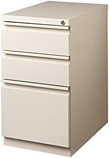 Pemberly Row 3 Drawer Mobile File Cabinet in Putty