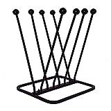 ARSUK Schuhabstreifer gusseisen, Schuhbürsten, Gartendeko, rostbraun, Schuhzubehör & Pflege (4 Paar Stiefel Zahnstange)