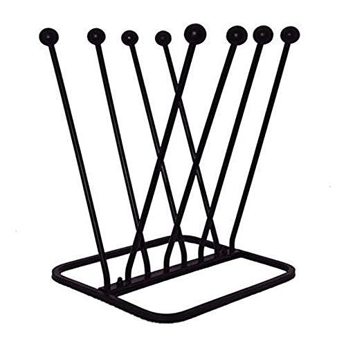 NEEZ Welly - Soporte para maletero de hierro fundido para botas de agua para interiores y exteriores, color negro