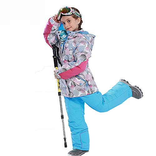 Winter Hooded Sneeuwpak met Broek, Winddicht Ski Jas voor Kinderen, B,158