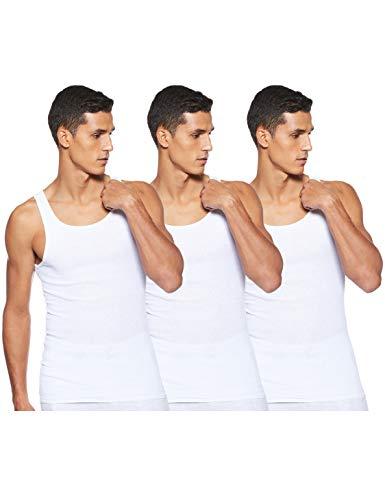 Hanes Men's ComfortSoft Moisture Wicking Tagless Tank Undershirts-Multipacks, White 3-Pack, Medium