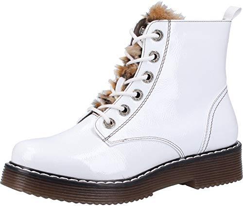 bugatti Damen 432549325969 Kurzschaft Stiefel Stiefeletten, Weiß (White/Brown 2060), 38 EU