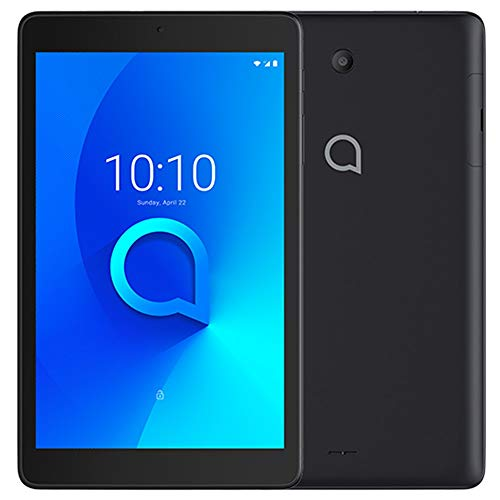"Alcatel 3T 8 9032T (32GB, 2GB) 8.0"" Cellular Tablet with Calling, 4080mAh Battery, Face Unlock, Android 10, GPS, US 4G LTE GSM Unlocked (T-Mobile, AT&T, Metro, Straight Talk) (Black)"
