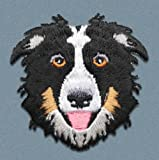 Parche Termoadhesivo para Ropa Perro Border Collie   Parche Bordado Tela Diseño Raza de Perro   Para Vaqueros Chaqueta Mochilas Camisetas
