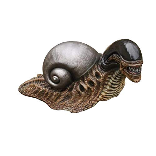 Alien Snail Garden Ornaments Outdoor, Alien Snail Statue Figure Statues Model Doll Collection Birthday Gifts Long Garden Home Decoration