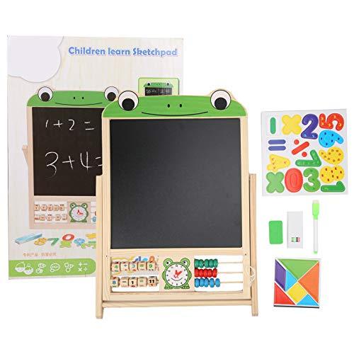 Asixxsix Tablero de Dibujo magnético, Tablero de Tiza de Arte Interesante, para la educación y el Aprendizaje de los niños en casa(Frog)
