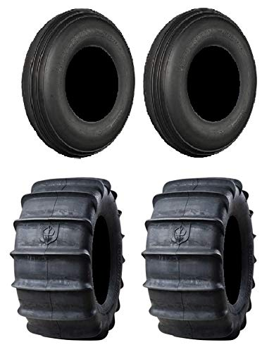 Full set of Pro Armor Sand 32x12-15 and 32x15-15 ATV Tires (4)
