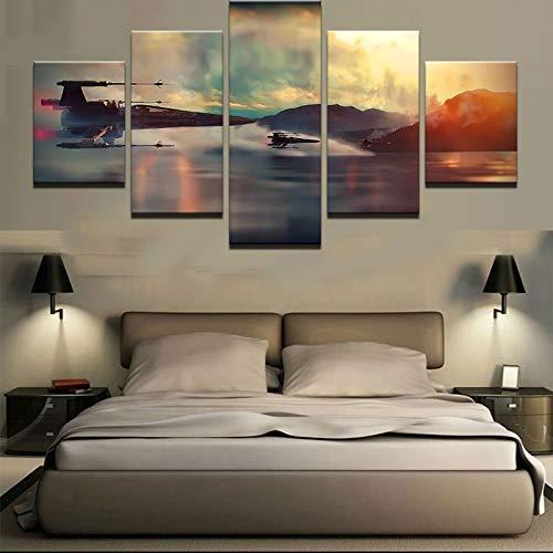 Muurkunst Olie Schilderen HD afdrukken Moderne Poster Film Landschap Vliegtuig Canvas Foto Home Decoratie Frameless 40 * 60 40 * 80 40 * 100