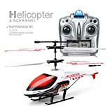 MKZDGM Rc Helicopter 3.5 Channels Helicopter with Gyro LED Light for Indoor Mini