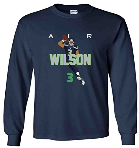 The Silo Long Sleeve Navy Seattle Wilson AIR PIC T-Shirt Adult