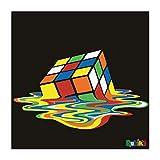 Spreadshirt Rubik's Melting Cube Wandbild Poster 60x60 cm,