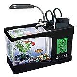 DGHJK Petit Aquarium, Mini Aquarium USB Aquarium ornemental écologique Aquarium, Articles pour Animaux de Compagnie Blancs