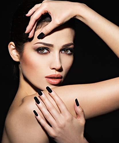AiN Katy - schwarz lang - Nägel falsche künstliche - 24 Stück - press on nails - fertig zum aufkleben - elegante fingernägel - aufkleber im set inklusive