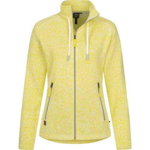 Linea Primero Übergangsjacke, Strickfleecejacke,Fleece Damen,Sweatjacke Luverne Women Farbe gelb, Größe 40