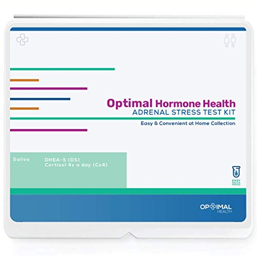 Best Prices! Stress Hormone at Home Saliva Test Kit – Diurnal 4 Point Cortisol + DHEA – Optimal Adrenals – Anxiety, Stress, Fatigue