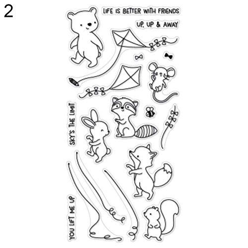 Dierlijke vlieg vlieg kitesnijden, stempel DIY Scrapbook Stencil papier kaart maken Decor Stamp Only